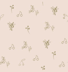 Seamless vintage floral pattern stylized vector