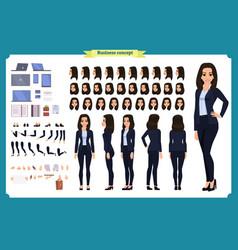 Set of businesswoman character design vector