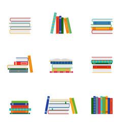 Set stacks books groups books vector