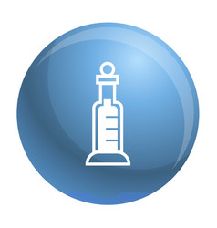 test medicine glass icon simple style vector image