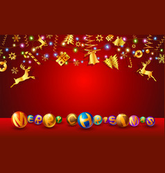 text christmas festival and new year vector image