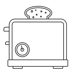 timer toaster icon outline style vector image