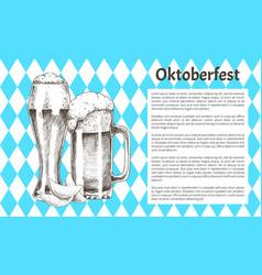 Traditional germany oktoberfest festival banner vector