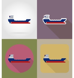 Transport flat icons 64 vector