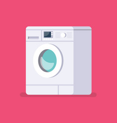 washing machine in flat style vector image