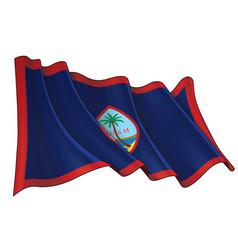 waving flag guamxa vector image