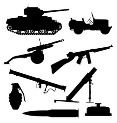 weapons of war vector image