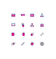 web thin line color line icons for ui vector image