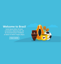 Welcome to brasil banner horizontal concept vector