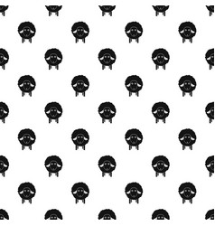 wow sheep pattern seamless vector image