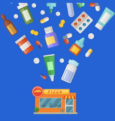 concept with medicines vector image