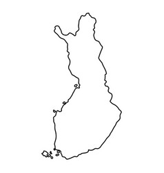 finland map of black contour curves of vector image vector image