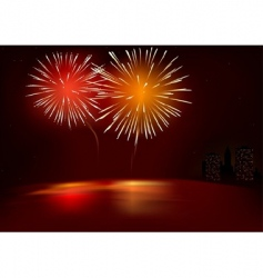 fireworks red vector image vector image