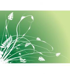 floral stroke vector image vector image