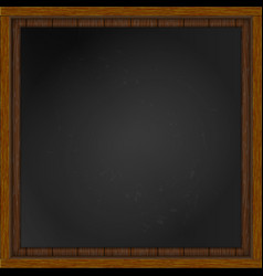 wooden frame with board vector image