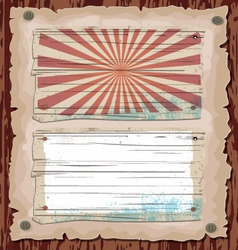 wooden template vector image vector image
