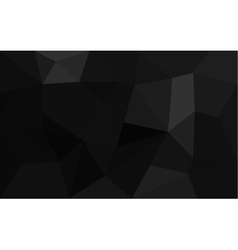 Abstract black faceted paper background vector image vector image