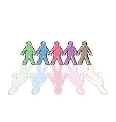 human figures vector image vector image