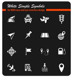 navigation ransport map icon set vector image