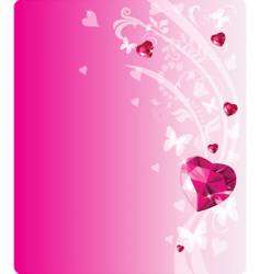 shiny ruby design vector image vector image