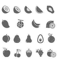 Icon set - fruit vector image