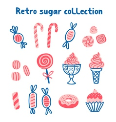 Retro sugar collection vector image vector image