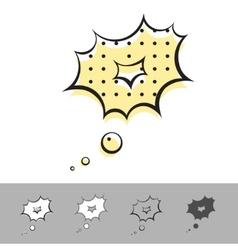 speech balloon vector image