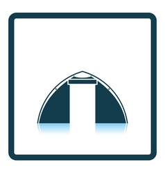 Touristic tent icon vector image vector image