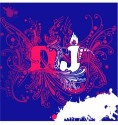 dj curves background vector image vector image