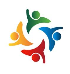 Four people-teamwork vector image
