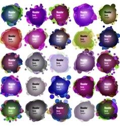 Set of Speech bubbles EPS 10 vector image vector image