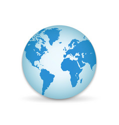 3d planet earth globe with all continents vector image
