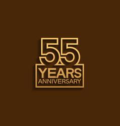 55 years anniversary design line style vector