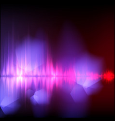 abstract equalizer background purple-red wave vector image