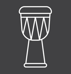 African djembe drum line icon music vector