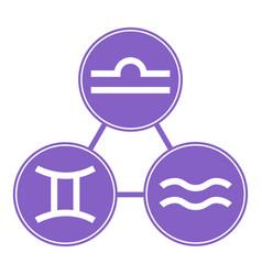 Aquarius gemini libra icons astrological vector