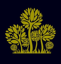 Artistic stylized natural design symbol creative vector image