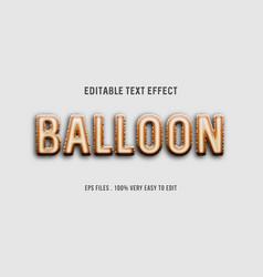 Balloon - text effect premium eps editable text vector