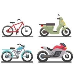Bike and motorbike vector