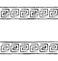 Black and white greek seamless pattern vector