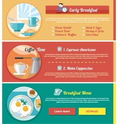 Breakfast time concept icons vector image