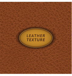 brown leather seamless pattern vector image