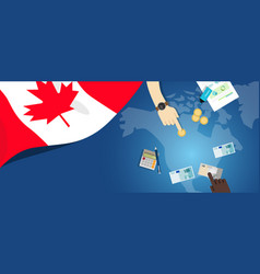 canada fiscal money trade concept of vector image