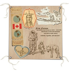 Canada - Pictures of Life Tribes vector