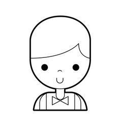 Casino dealer avatar character vector