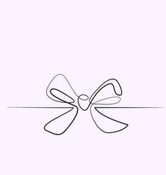 Christmas holly decoration bow-knot vector