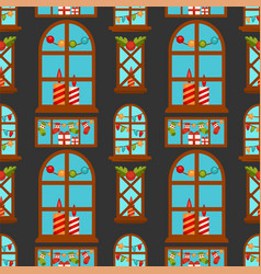 christmas seamless pattern background new vector image