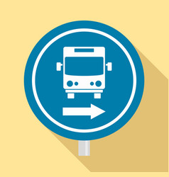 circle bus station sign icon flat style vector image