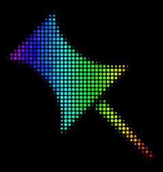 Colored dotted pin icon vector