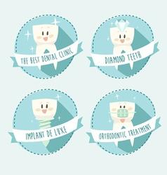 concept of healthy teeth icon set vector image